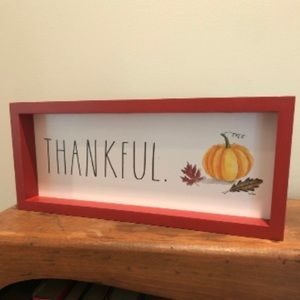 "🆕 Rae Dunn ""Thankful"" Fall Harvest Sign"